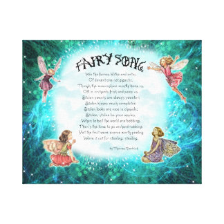 Wrapped Canvas. Fairy Song Canvas Print