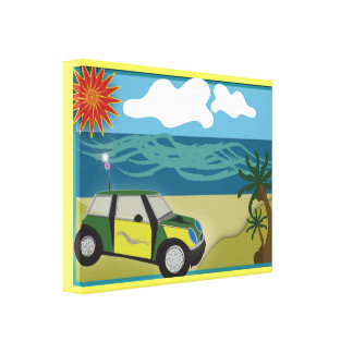 Wrapped Canvas (Gloss) MINI VACATION