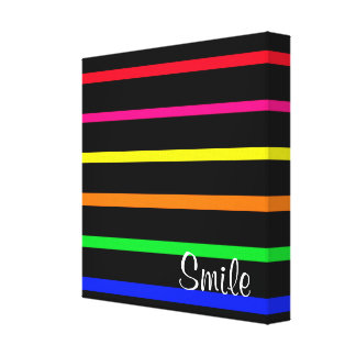 Wrapped Canvas High Contrast  Stripes with Imprint