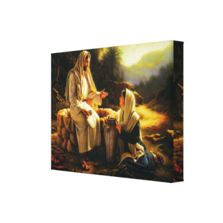 Wrapped Canvas Jesus and Samaritan woman