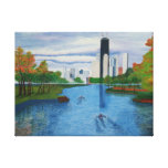 """Wrapped Canvas """"Lincoln Park - Chicago Stretched Canvas Print"""