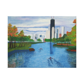 "Wrapped Canvas ""Lincoln Park - Chicago Stretched Canvas Print"
