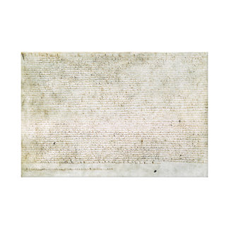 Wrapped Canvas Magna Carta Charter of Liberties