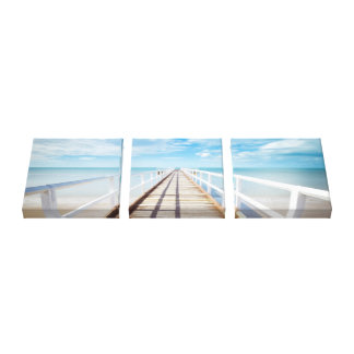 Wrapped Canvas Ocean Walkway