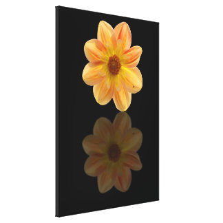 Wrapped canvas of a dahlia canvas print