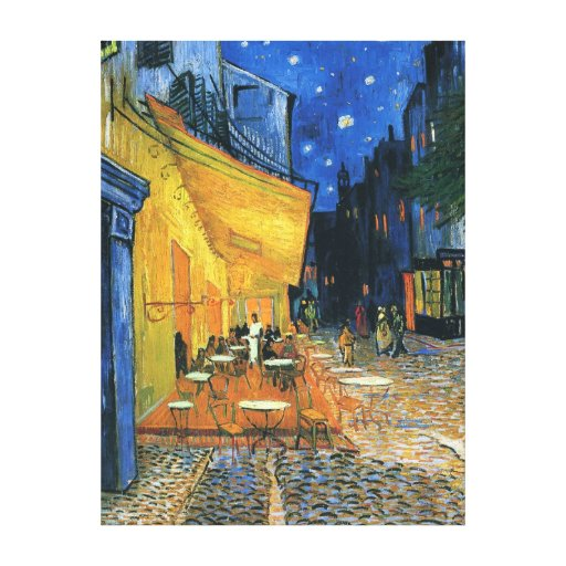 "Wrapped Canvas Print - ""Cafe Terrace at Night"""