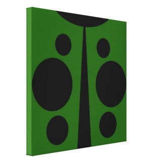 Wrapped Canvas Print, Digital Ladybug, Green
