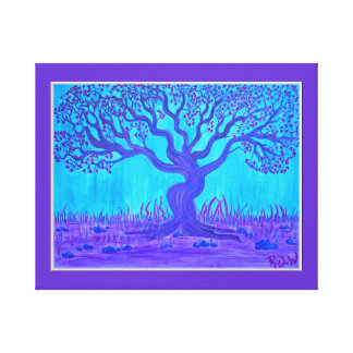 Wrapped Canvas Print- Love Tree