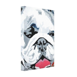 Wrapped Canvas Print of his 'Bulldog Pop' Painting