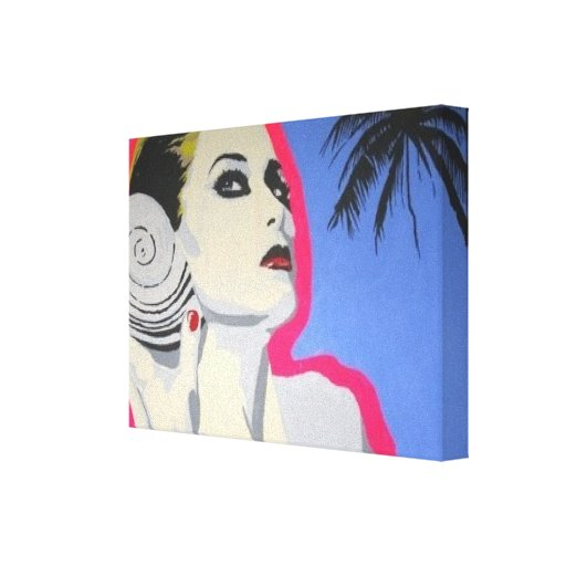 Wrapped Canvas Print of his 'Sea Shell Girl' Paint