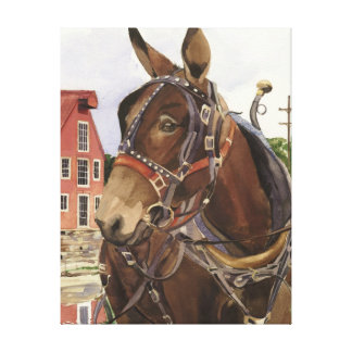 Wrapped canvas print of Mule