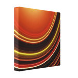 Wrapped Canvas Print, Orange Brown Abstract Curve