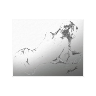 "Wrapped Canvas Prints ""artistic woman"""