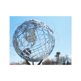 Wrapped Canvas - The Worlds Fair Globe, NYC