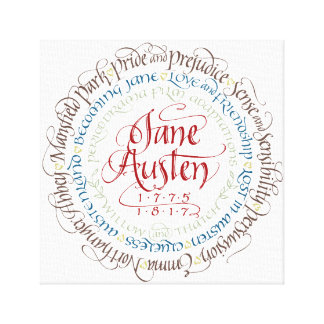 Wrapped Canvas Wall Art - Jane Austen Period Drama