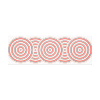 Wrapped Canvas with Concentric Circles Design Canvas Print