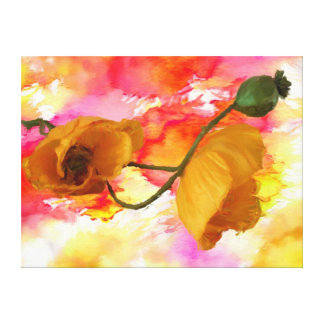 Wrapped canvas: Yellow Poppy Canvas Print