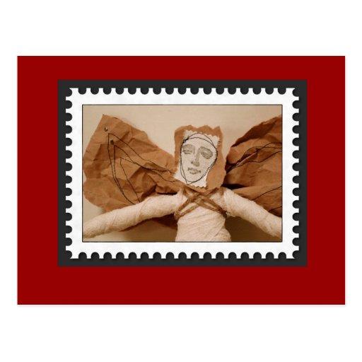 Wrapped Christmas Angel Postcard