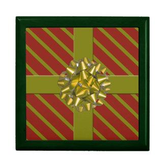 Wrapped Christmas Present Holiday Keepsake Box