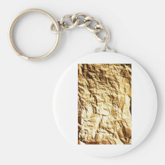 Wrapped crumpled old vintage paper rusty brown art keychain