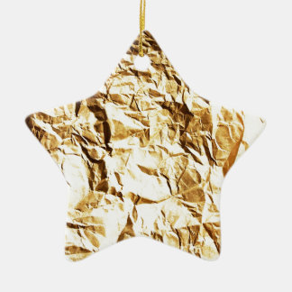 Wrapped crumpled old vintage paper rusty brown art christmas ornaments