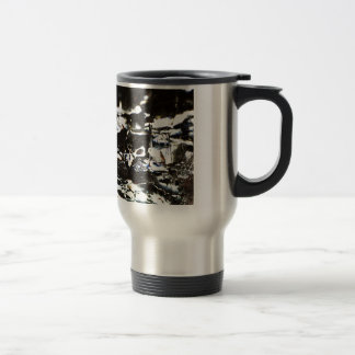 Wrapped crumpled old vintage paper rusty brown art travel mug