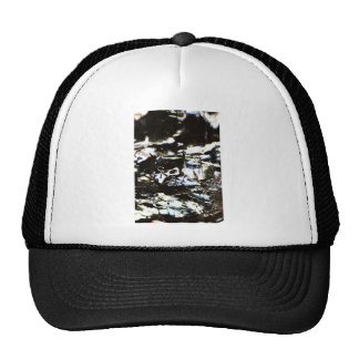 Wrapped crumpled old vintage paper rusty brown art trucker hat