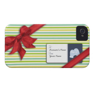 Wrapped Gift with Ribbon and Tag iPhone 4 Case