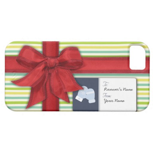 Wrapped Gift with Ribbon and Tag iPhone SE/5/5s Case