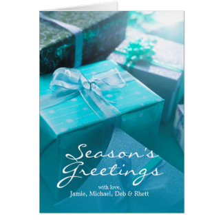 Wrapped gifts card