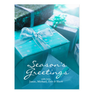 Wrapped gifts postcard