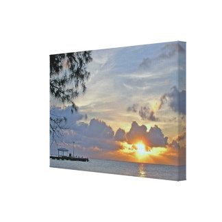 "WRAPPED GLOSS CANVAS, ""SUNSET AT RUM POINT, GRAND CANVAS PRINT"
