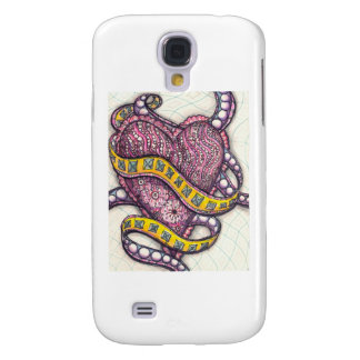 Wrapped Heart inspired by Zentangle Samsung Galaxy S4 Case