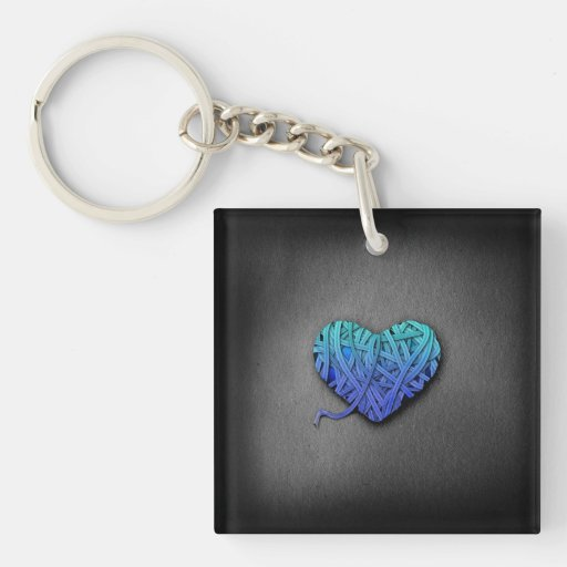 Wrapped Heart Keychains