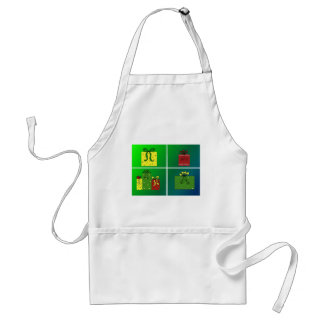 Wrapped Holiday Presents Adult Apron