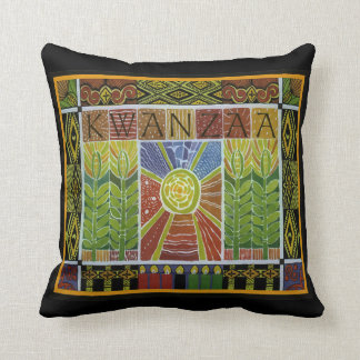 Wrapped In Kwanzaa Throw Pillow