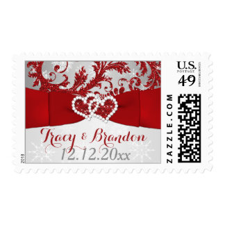 Wrapped in Love Joined Hearts Wedding Postage