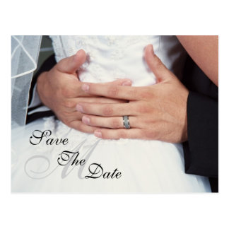 """""""Wrapped in Love"""" Monogram Save The Date Postcard"""