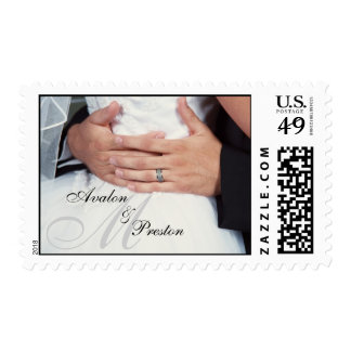 """Wrapped in Love"" Monogram Wedding Postage"