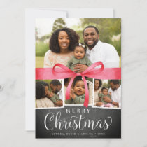 Wrapped in Red | Holiday Photo Collage Card