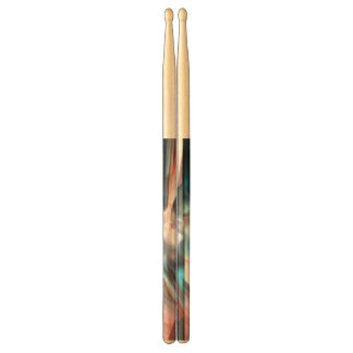 Wrapped in Silk Abstract Drum Sticks