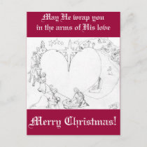 Wrapped in the arms of His Love Holiday Postcard