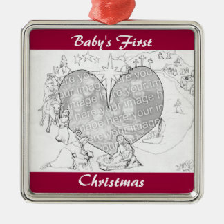 Wrapped in the arms of His Love Metal Ornament