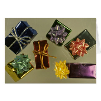 Wrapped packages card