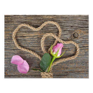 Wrapped Rose Bud Photo Print