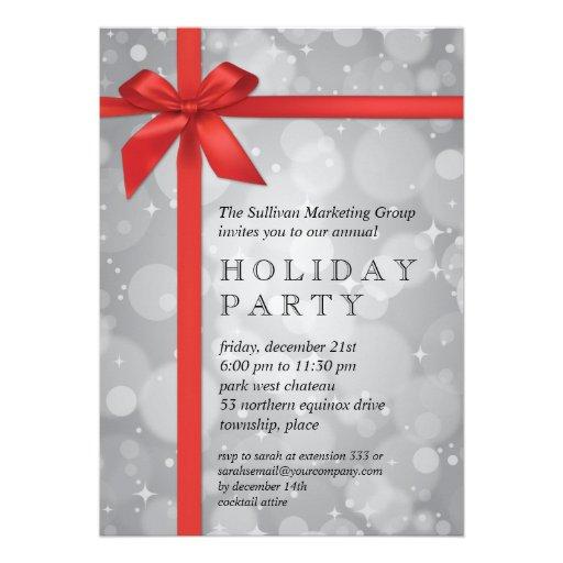 company holiday party invitation