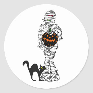 Wrapped Up Halloween Sticker