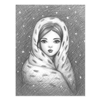 Wrapped up warm postcard