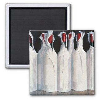 Wrapped Wine Bottles Number 1 1995 2 Inch Square Magnet