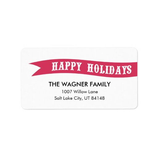 Wrapped With Love Holiday Address Labels Personalized Address Label